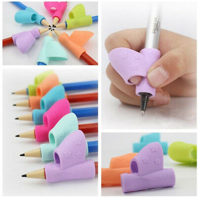3PCS/Set Children Pencil Holder Pen Writing Aid Grip Posture Correction Tool New