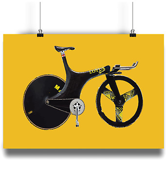 Lotus 108 110 sport 1 hour record bicycle prints illustration  cycling
