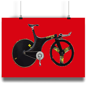 Lotus 108 110 sport 1 hour record bicycle prints illustration  cycling r