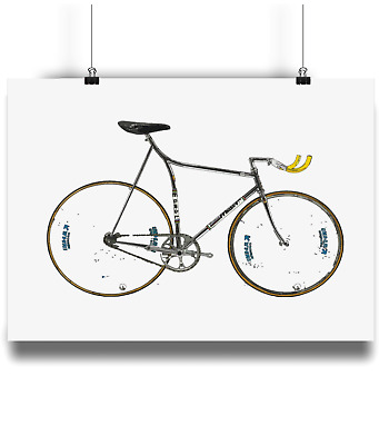 Francesco moser 1 hour record bicycle prints illustration poster