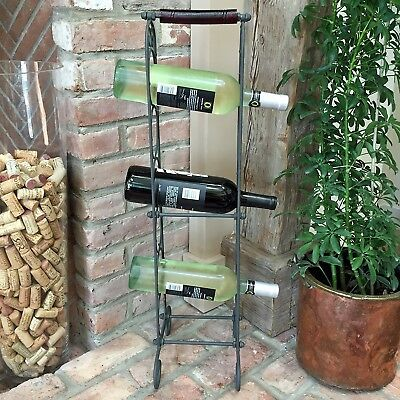 The French Country Style Wine Rack for 6 Bottles / Rolled-Towel Tower, Cast