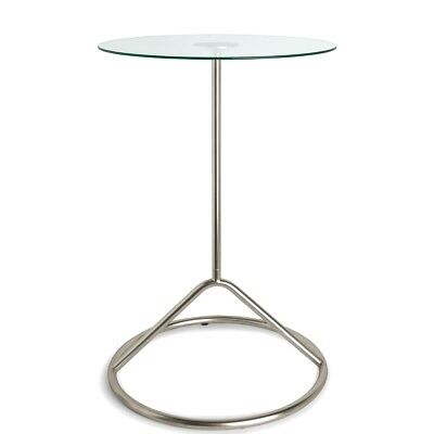 Umbra Loop Side Table Nickel  H55.9 x D38 cm