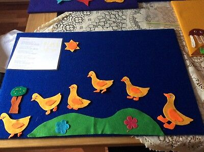 FELT BOARD STORY/RHYME- 5 Little Ducks