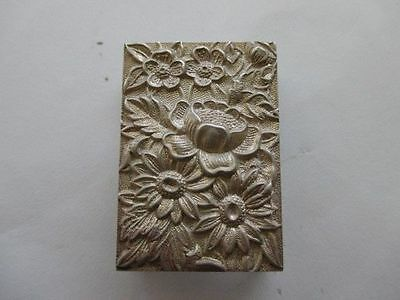 Vintage S. Kirk & Son Sterling Silver Repousse Floral Match Cover Box Holder 90F