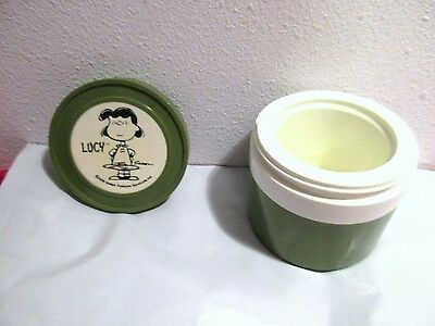 Vintage Thermos Charlie Brown's Lucy Insulated Jar USA Peanuts Collectible 1950