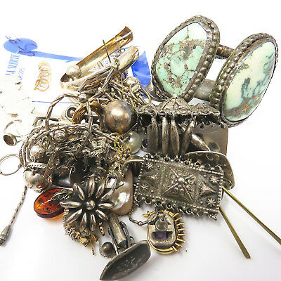 NYJEWEL 300 grams of sterling scrap and wearable jewelry lot