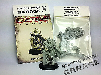 Barbarian Dude miniature 32mm OFFICIAL Limited Edition Genuine