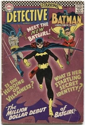 Detective Comics (1937) #359 3.5 Vg- 1St App Of Batgirl Barbara Gordon