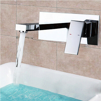 unterputz badarmatur wasserhahn wasserfall mischbatterie wand waschtisch de ship eur 58 55. Black Bedroom Furniture Sets. Home Design Ideas