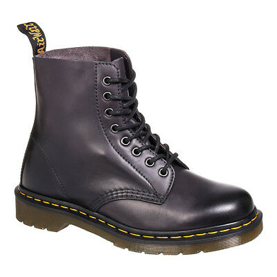 Dr Martens Pascal Antique Temperley Charcoal Boots, Airwair Dyed Leather Shoes