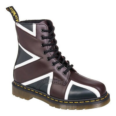 Dr Martens Pascal Union Jack Flag Boots, Classic Airwair Unisex Leather Footwear