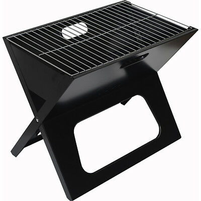 Picnic at Ascot Folding Portable BBQ Grill - Black Outdoor Accessorie NEW