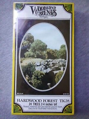 Woodland Scenics Hardwood Forest Trees #TK28 - Set of 24 ~ TS