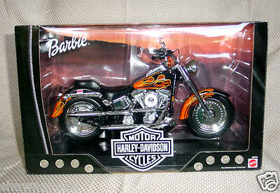 Barbie Harley Davidson Fat Boy Flames #2 Motorcycle ~ 2000 ~ MINT IN BOX!