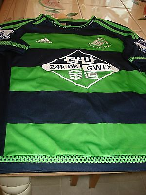 "SWANSEA CITY FOOTBALL CLUB Green & Blue Shirt No. 20 ""MONTERO"" Size 11-12 Years"