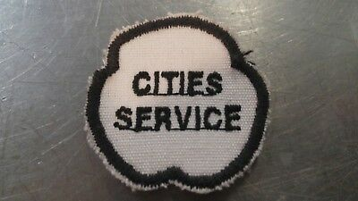 Vintage Cities Service Oil & Gas Co. Sew on  Patch   1950s
