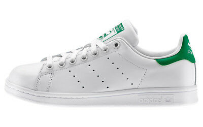 Adidas Stan Smith Sneakers Scarpe Donna Uomo Shoes Bianco Verde M20324-2