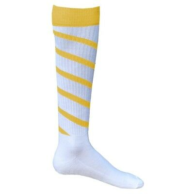 (Small, White/Gold) - Red Lion Cyclone Athletic Socks. Red Lion Socks