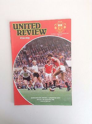 1980/81  Manchester United v  Leicester City   Football Programme