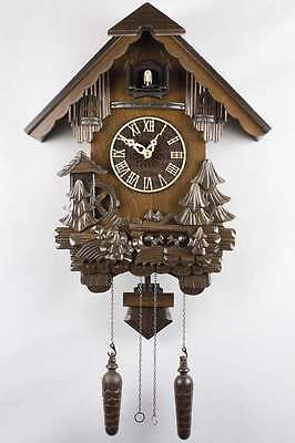 German Black Forest Handcrafted Cuckoo Clock -Squirrels with Fir Tree 6013