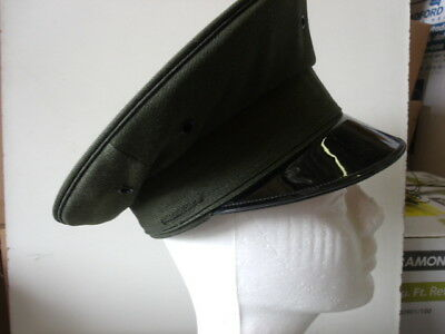 Uniform Round Hat - Dark Green - Lancaster Brand 100% WOOL Size 6 1/2 (A925)