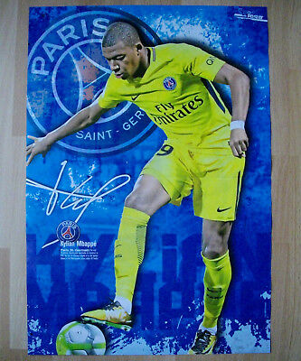 Poster Paris Saint Germain zahlt 180 Mio >18-jähriger Shootingstar Kylian Mbappe