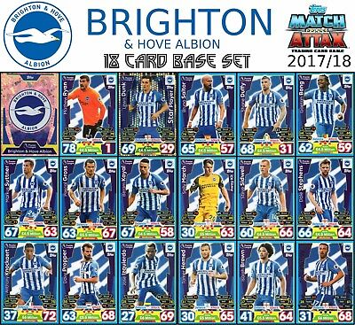 Match Attax 2017/18 Brighton And Hove Albion Full 18 Card Team Set 17/18