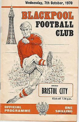 Blackpool v Bristol City, 7th October 1970, League Cup