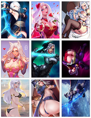 "LEAGUE OF LEGENDS - Ashe 9-pc Stickers Set - 2.5""x3.25"" (PS4, XBOX, GAME)"