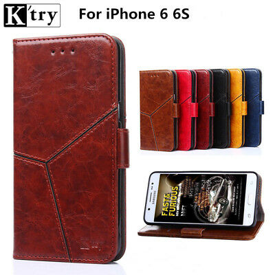 Genuine K'Try Luxury Magnetic Leather Flip Wallet Case Cover for iPhone 6, 6S