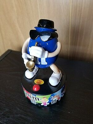 M&M Blue Candy Saxophone Electronic Figurine Sunglasses Plays Sax Music Works!