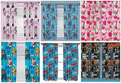 Official Licensed Kids Character Curtains Minnie Mouse Paw Patrol Star Wars Cars