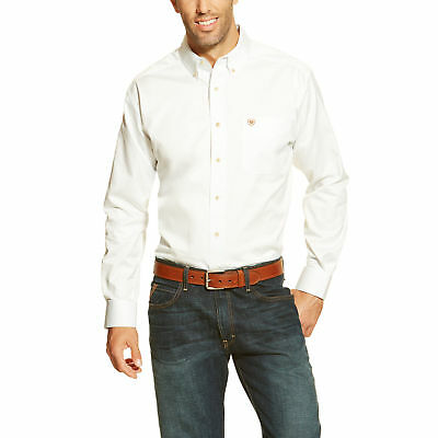 372dbdfaf4a6 ARIAT MEN S SOLID White Twill Button Down Long Sleeve Shirt 10000503 ...