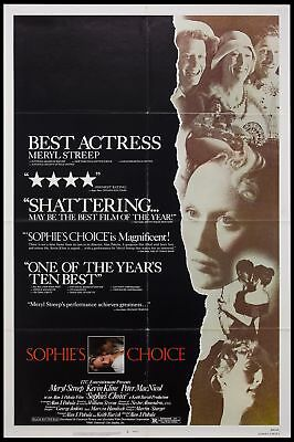 Original 1982 SOPHIE'S CHOICE Movie Poster 27x41 Theater NOT REPRODUCTION
