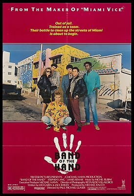Original 1986 BAND OF HAND Movie Poster 27x40 Theater NOT REPRODUCTION
