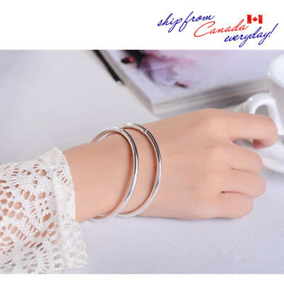 S999 Simple Design Round Hoop Solid Open End Adustable Bangle