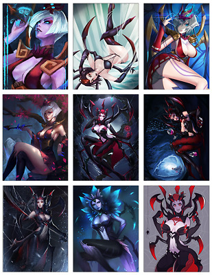 "LEAGUE OF LEGENDS - Elise 9-pc Stickers Set - 2.5""x3.25"" (PS4, XBOX, GAME)"