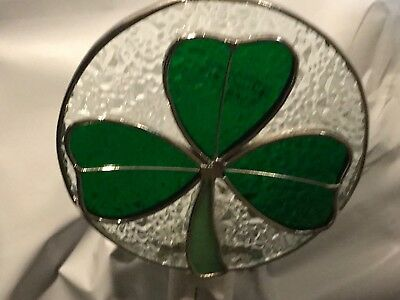 Stained Glass Green Clover Night Light New [9009-77]