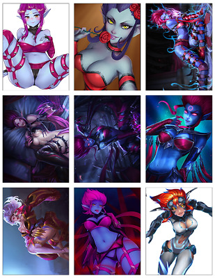 "LEAGUE OF LEGENDS - Evelynn 9-pc Stickers Set - 2.5""x3.25"" (PS4, XBOX, GAME)"
