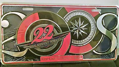 Reno Nevada Hot August Nights 2008 Commemorative License Plate  FREE SHIPPING !!