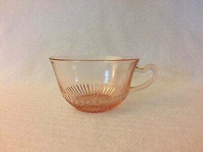 Pink OLD COLONY LACE EDGE Cup Anchor Hocking Depression Glass Free U.S Shipping