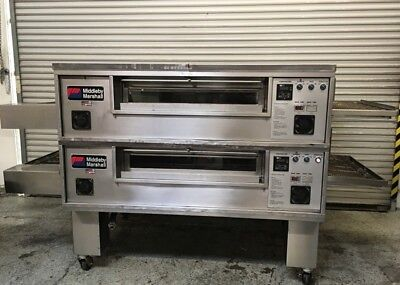 Double Stack Conveyor Pizza Oven Gas Middleby Marshall PS570M #7068 Commercial