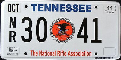 "TENNESSEE "" NRA - NATIONAL RIFLE ASSOCIATION "" TN Specialty License Plate"