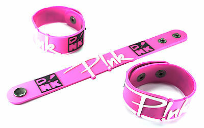 PINK New! Rubber Bracelet Wristband Free Shipping  vr358