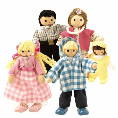 Wooden Dolls Family, Miniature Doll House Accessory, Only at Toys R Us