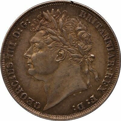 1825 ONE SILVER SHILLING COIN KING GEORGE IV Milled (1816-1837)