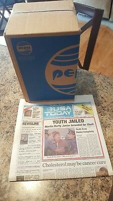 Pepsi Perfect Back To The Future  + Usa Today Back To The Future Newspaper!!