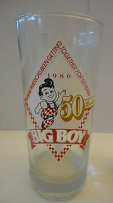 Vintage Bob's Big Boy Anniversary Glass, Celebrating 50 Yrs 1936-86, New