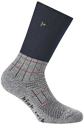 (23-26, Blue Denim) - Rohner Fibre High Tech Junior Trekking Socks