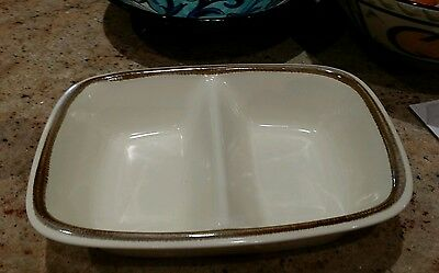 Mikasa Natures Gallery Divided Dish D8000 Made In Japan
